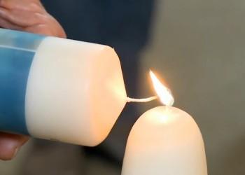 Het licht van de kaarsenestafette verspreidt zich verder