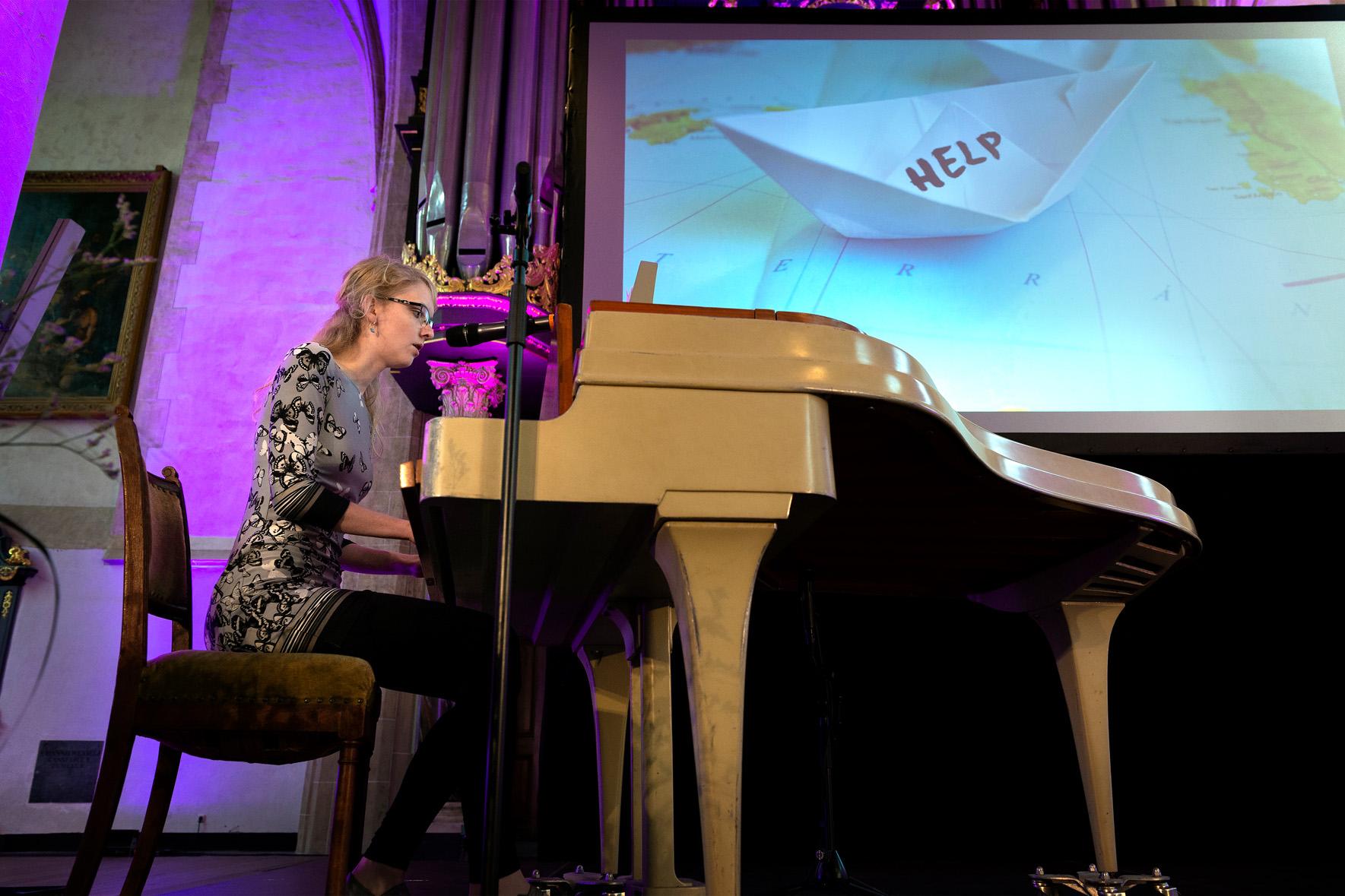 Maaike de Haas zingt in de Martinikerk 23 juni 2018