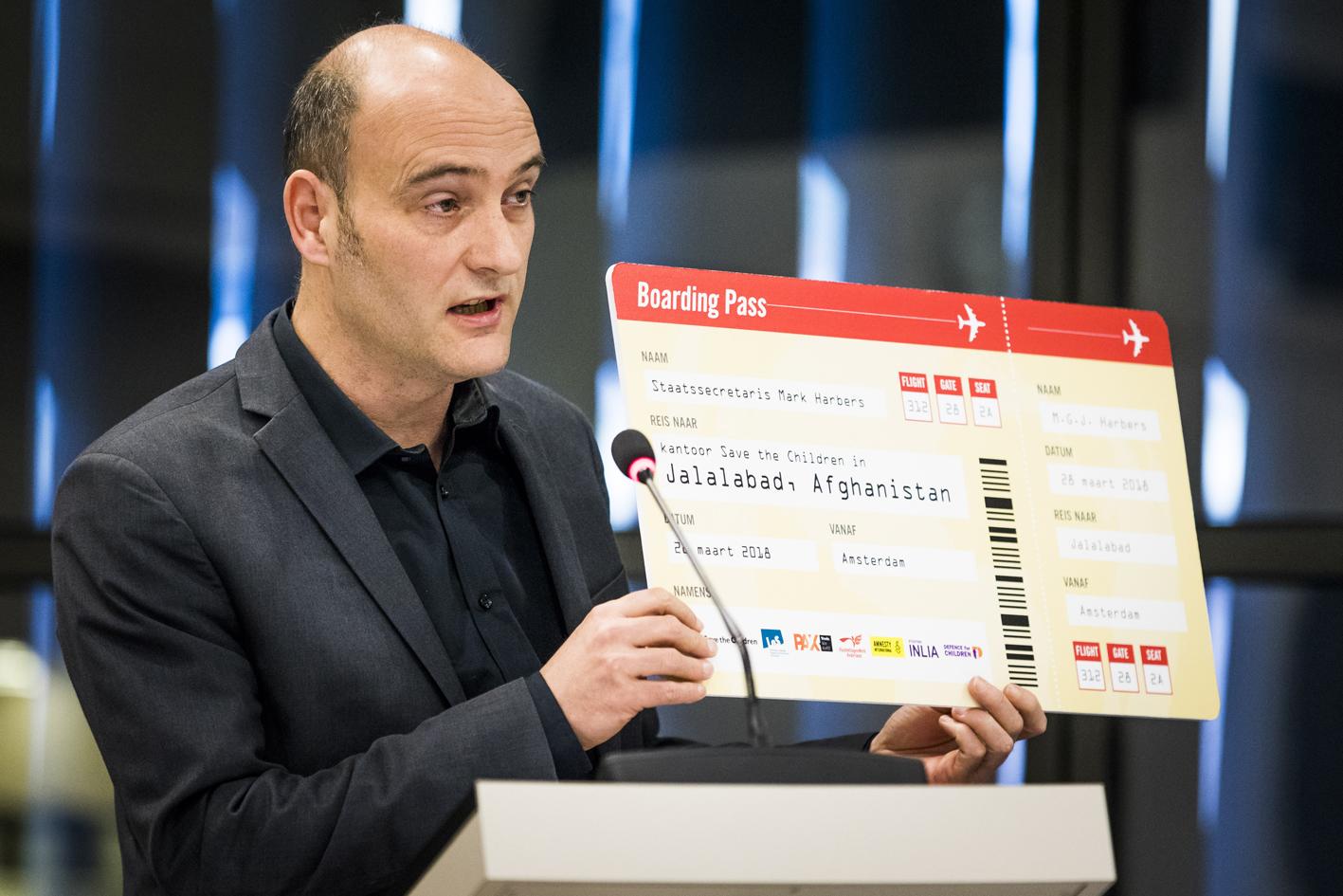 Jasper van Dijk SP ticket Afghanistan