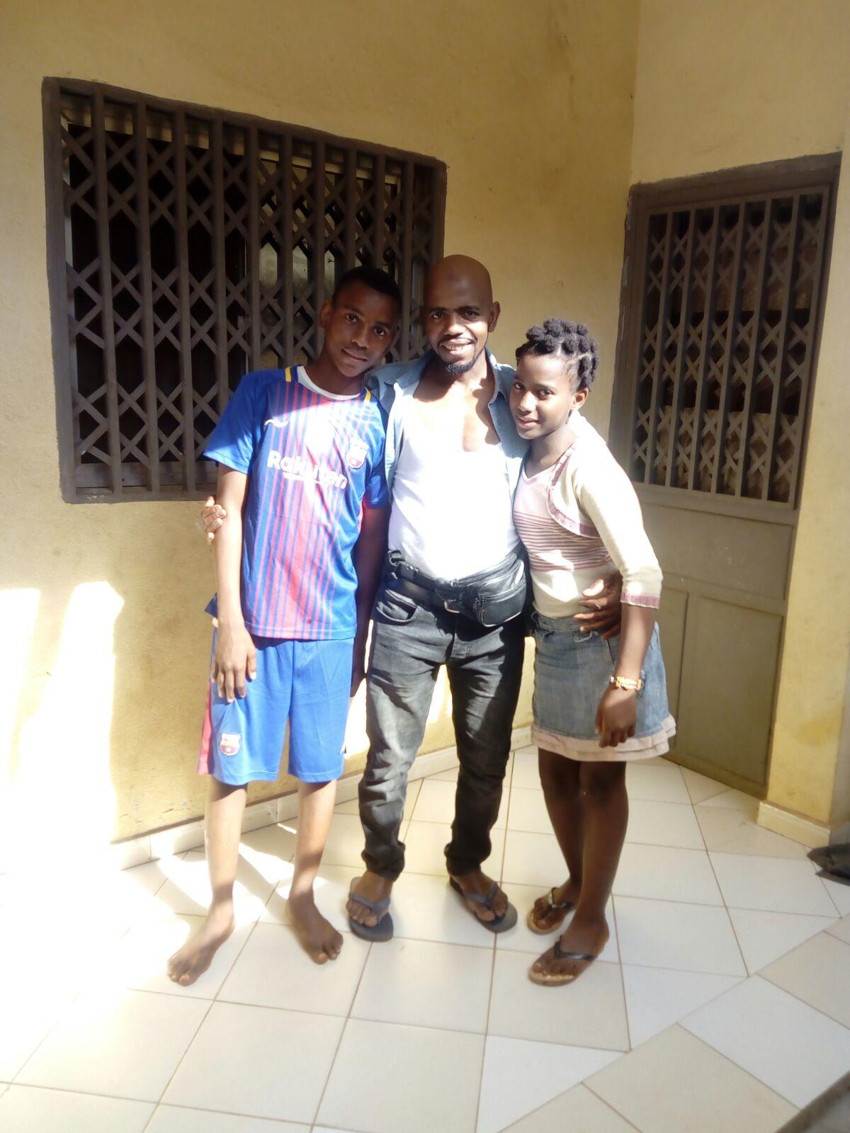 Moussa en kinderen in Guinee