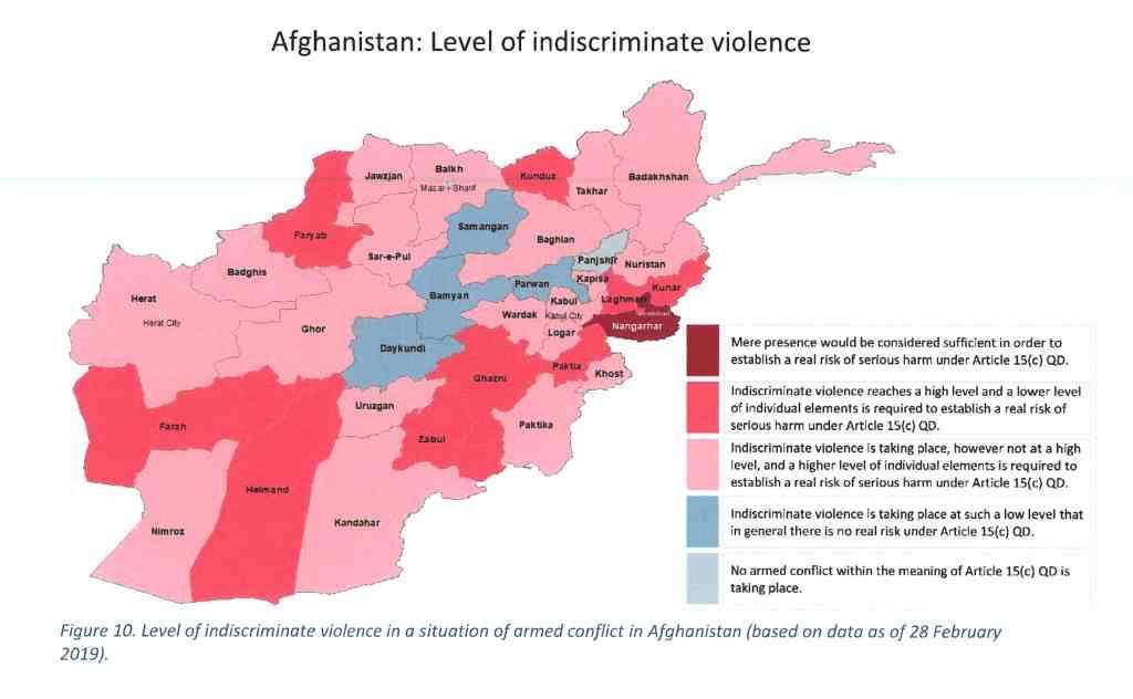 Kaart Afghanistan EASO 28 feb 2019