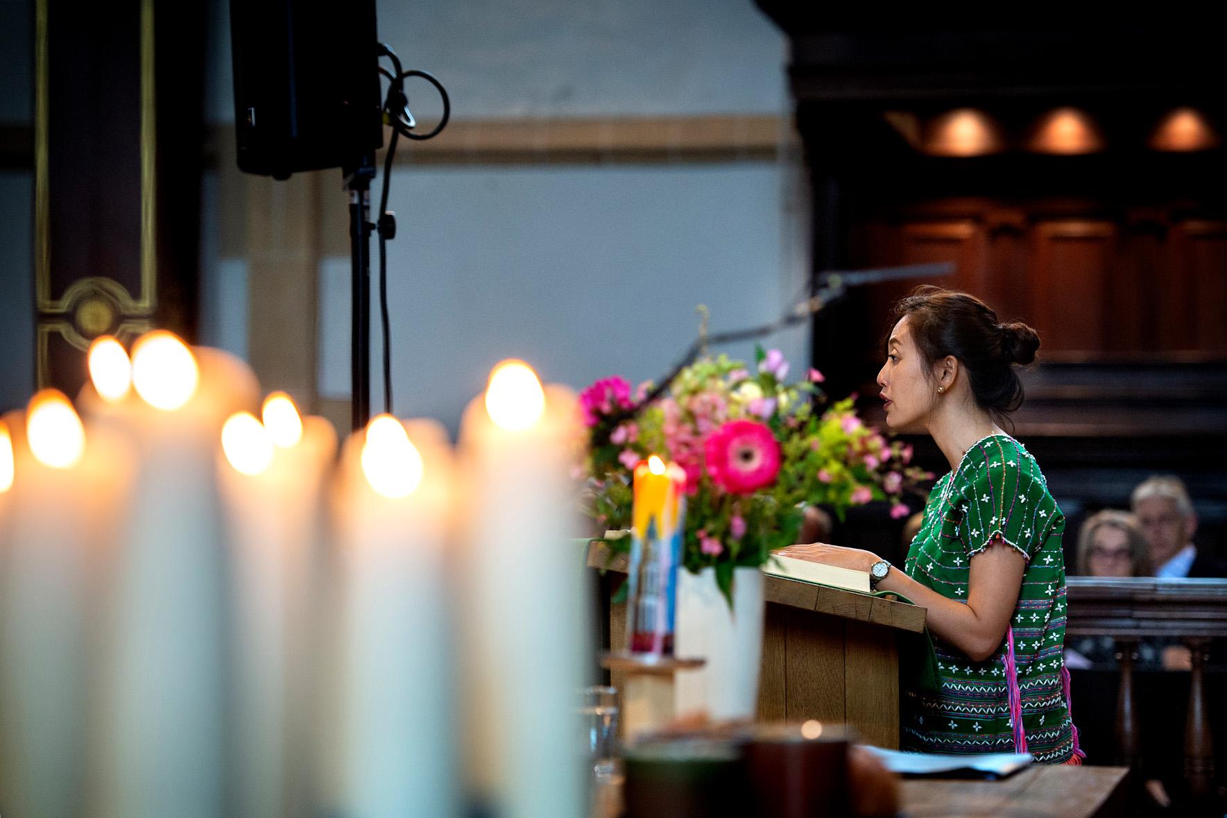 Winsome gaat voor in gebed in Martinikerk - 24 juni 2018